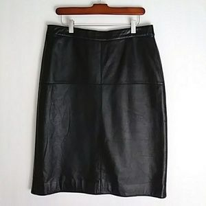 Just in! Leather Skirt - ISAAC MIZRAHI (10)